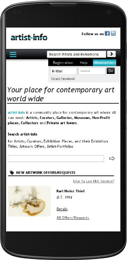 artist-info.com on mobile devices