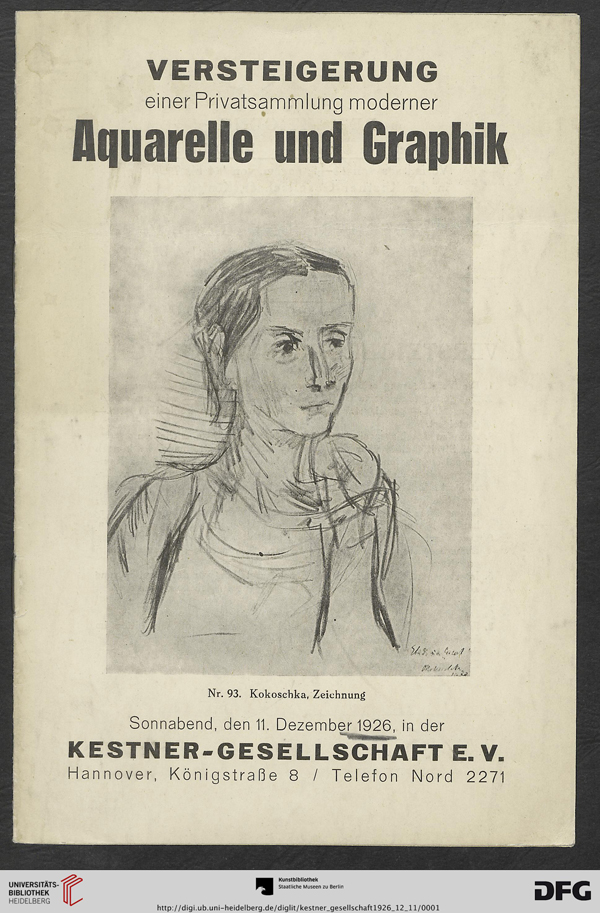 Auction Catalog, December 11, 1926, Kestner-Gesellschaft, Hannover