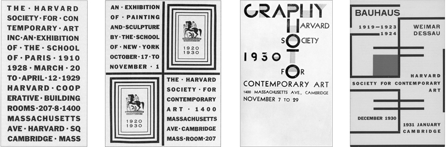 Harvard Society, The School of Paris, The School of New York, Photography, Bauhaus 119-1923/1924